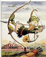 Carl Barks Robin Hood at Nottingham