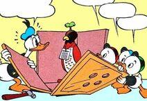 Comic Donald boys and falcon