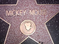 Mickey Mouse star in Walk of Fame