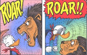 Scrooge roar