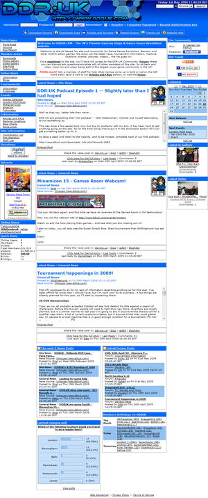 DDRUK website screenshot