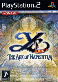Ys The Ark of Napishtim - Boxart PAL