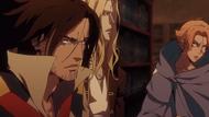 Castlevania anime saison 2 Episode 5 Alucard, Sypha et Trevor.jpg