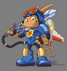Sparkster (Rocket Knight Artwork 01)