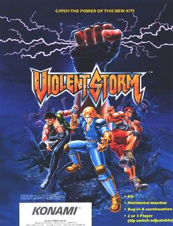Violent Storm US Arcade Flyer