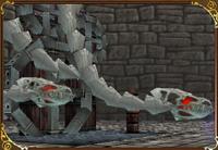 Dragon-Squelette-Le-mur-extérieur-Castlevania-64 image 01