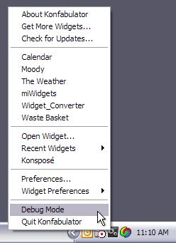 Debug Mode Popup on Windows