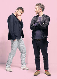 Jamie Hewlett and Damon Albarn of Gorillaz 3