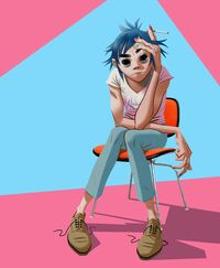 2d wearing pink nail polish full