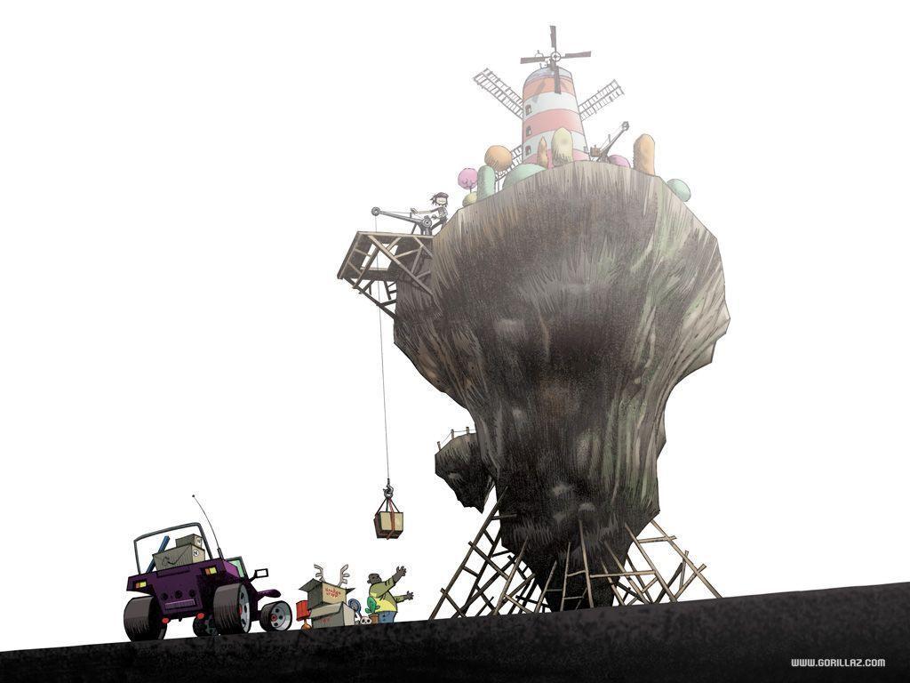 Flying Windmill Island Gorillaz Wiki Fandom