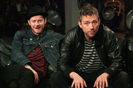 Jamie Hewlett and Damon Albarn of Gorillaz 2