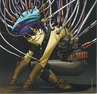 Cyborg noodle by darkzomby