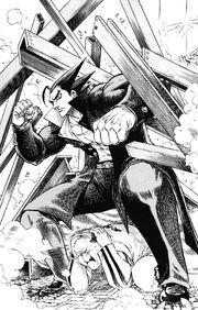 Akira saving Okawari