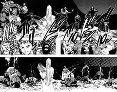 Kenji defeating Wolf Fang
