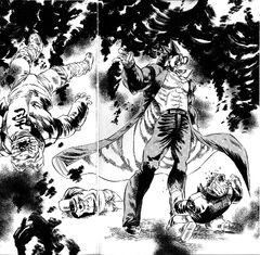 Akira defeating the Enjou Brothers