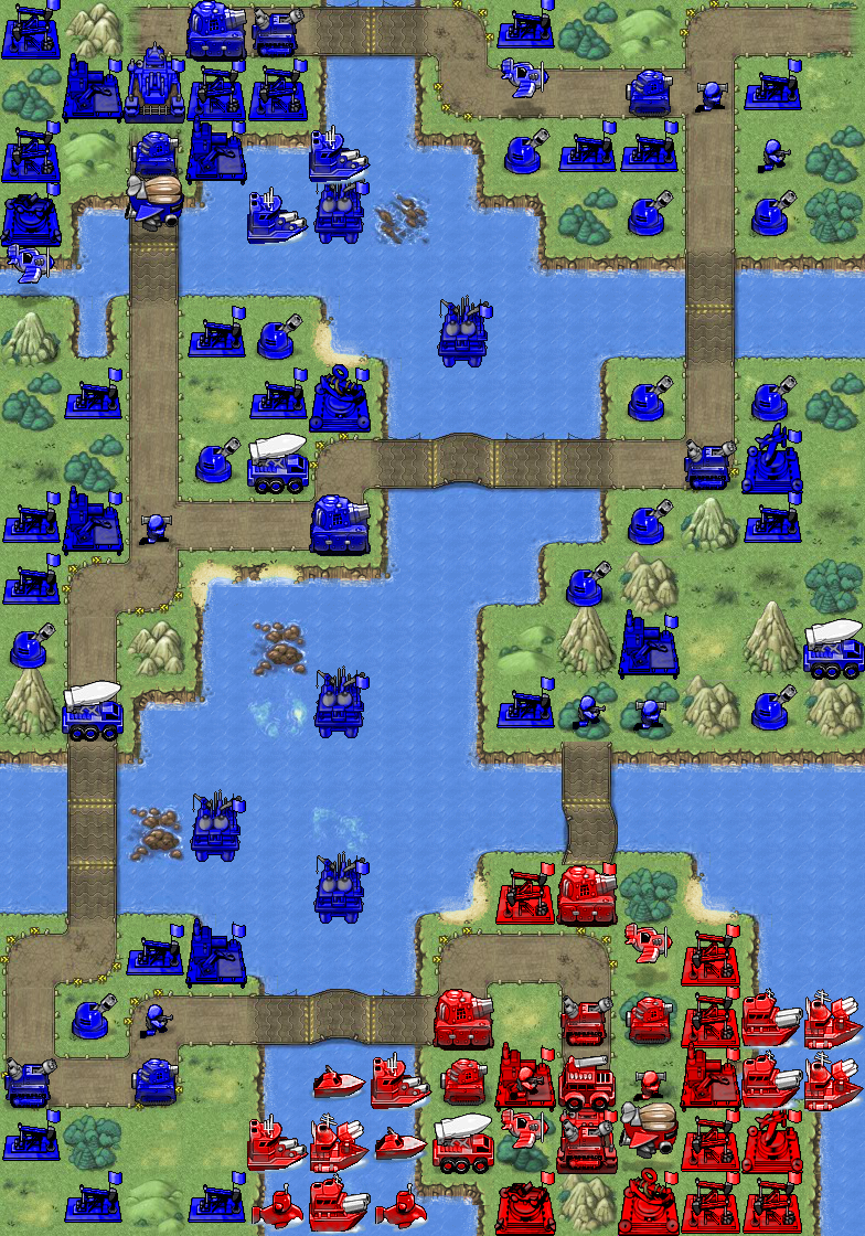 Battalion Nemesis Mission 10 Bringing Down the House Map (hidden Stealth Tanks and U-Boats)