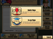 Maps of Battalion Arena Screen