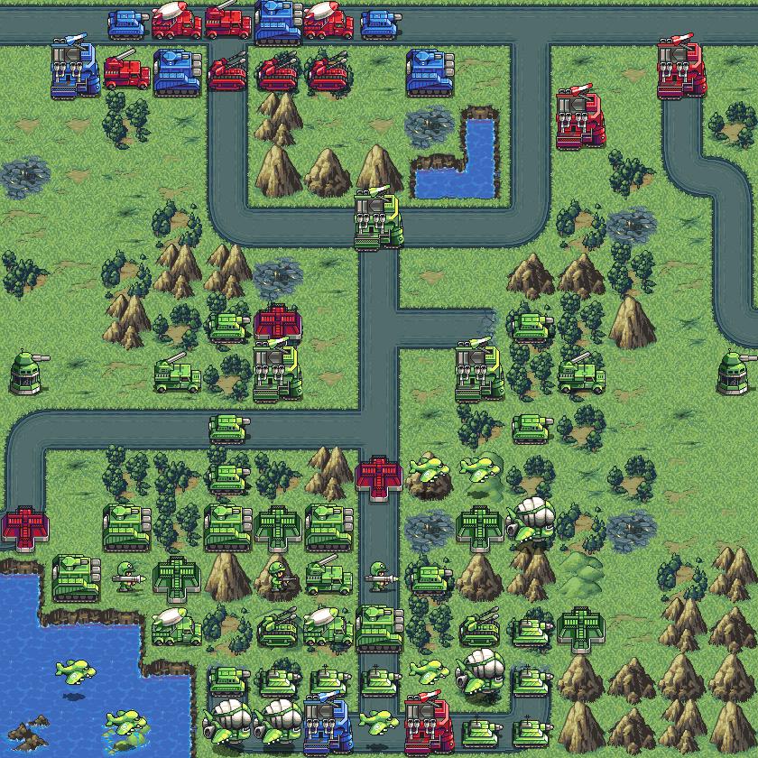 -4- Battalion Arena Mission Head to Head (shown Stealth Tanks)