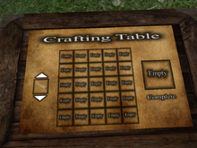Crafting table snapshot 001