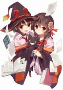 Megumin and yunyun