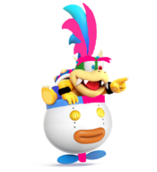 Abel Koopa in his Koopa Clown Car
