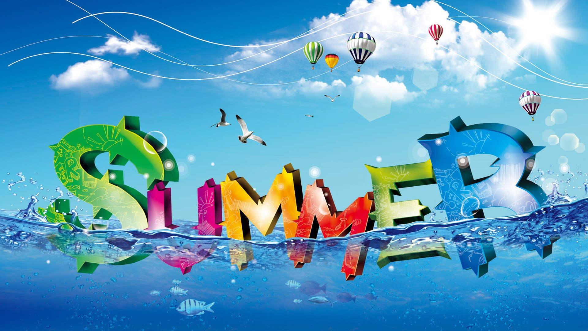 Summer Graphic Design Wallpaper Desktop HD