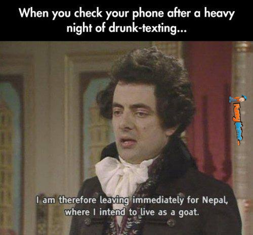 Funny Memes When You Check Your Phone After Drunk Texting Jpg