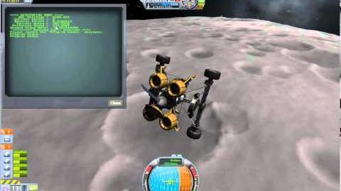 Kerbal Space Program w KOS mod Descend with skycrane