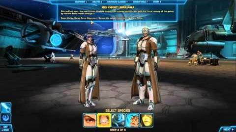 Character Generation - Jedi Knight - Star Wars The Old Republic TOR