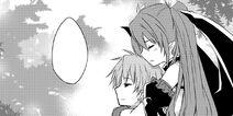 Valkyria comforting Hiroto