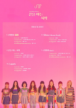 UNI.T Begin with the End tracklist