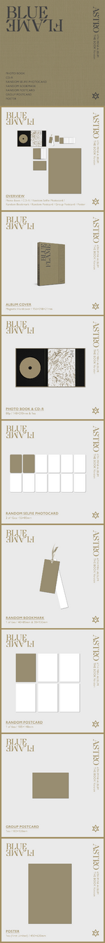 ASTRO Blue Flame album packaging (The Book ver.)