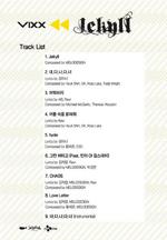 VIXX Jekyll track list