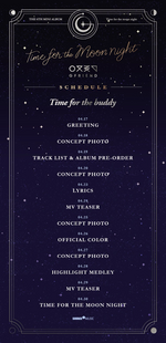 GFRIEND Time for the Moon Night time table