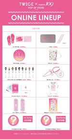 TWICE TWICE pop-up store online lineup