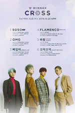 WINNER Cross track list poster