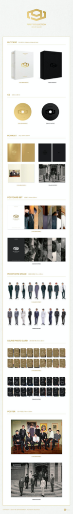 SF9 First Collection album packaging