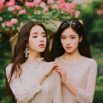 LOOΠΔ HeeJin and HyunJin promotional photo