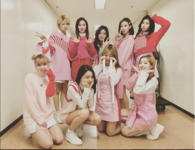 TWICE TT comeback girls in hotel corridor