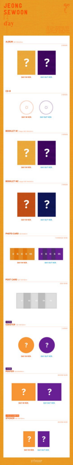 Jeong Sewoon Day album packaging