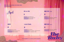 APRIL The Ruby tracklist