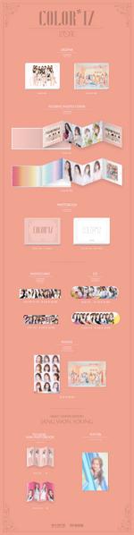IZONE Color IZ digipak album packaging