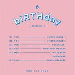 Roh Tae Hyun Birthday scheduler