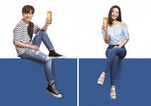 Joy & Yook Sungjae LOTTE Fitz Super Clear endorsement promo photo
