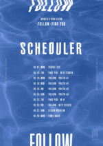 MONSTA X Follow Find You scheduler