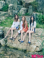 (G)I-DLE 10+star July 2018 photo Yuqi & Minnie & Soojin