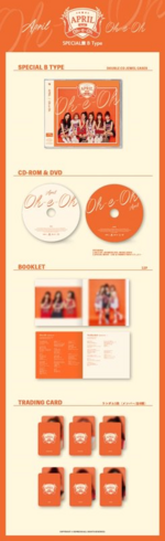 APRIL Oh-e-oh album packaging (Special B)