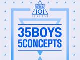 Produce 101: 35 Boys 5 Concepts