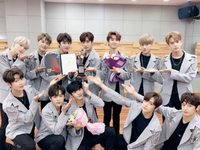 THE BOYZ Brand of the Year Korea 2018 thanking fans photo