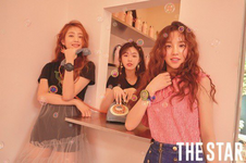 (G)I-DLE The Star August 2018 photo Miyeon & Minnie & Soojin